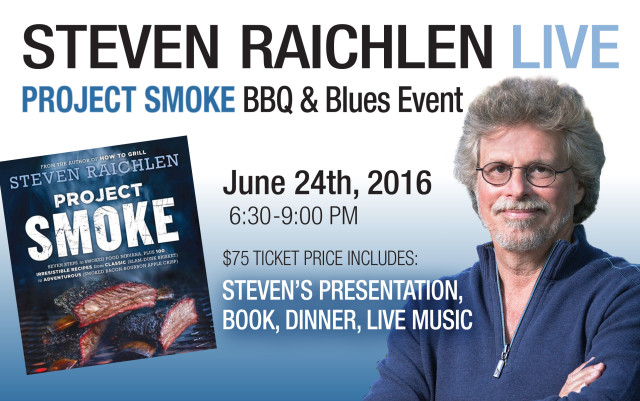 Steven Raichlen Live: Project Smoke BBQ and Blues @ Smoke 'n' Fire | Overland Park | Kansas | United States