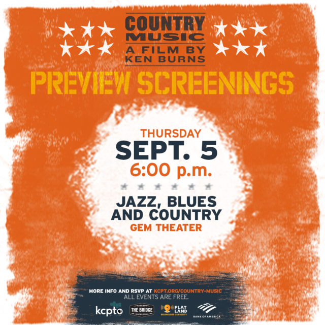 Jazz, Blues and Country | Ken Burns' Country Music Sneak Peek and Music Demonstration @ Gem Theater | Kansas City | Missouri | United States